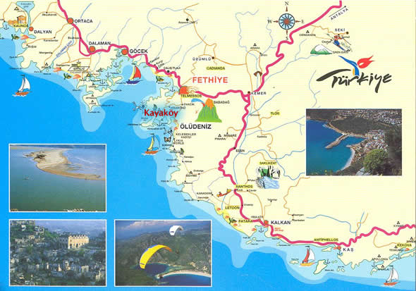 misafir evi kayakoy holiday holiday accommodation in kayakoy Kayakoy Turkey Map show bigger map kayakoy turkey map